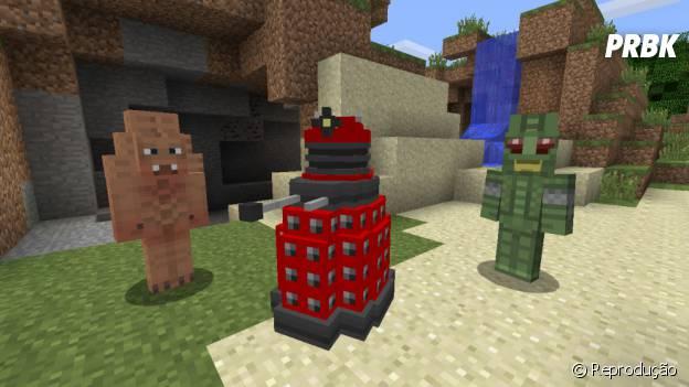 """""""Minecraft"""" com os personagens Daleks de """"Doctor Who"""""""