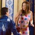 """Em """"As Aventuras de Poliana"""", Mirela (Larissa Manoela) vai gostar de Guilherme (Lawrran Couto), mas o gato só terá olhos para a amiga,Raquel (Isabella Moreira)"""