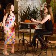 """Em """"As Aventuras de Poliana"""", Raquel (Isabella Moreira) falará paraMirela (Larissa Manoela) que não acha Guilherme (Lawrran Couto) tudo isso"""
