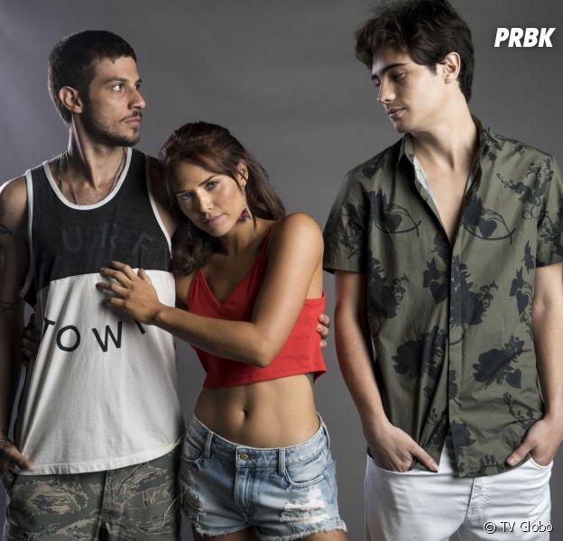 """Em """"Segundo Sol"""", Ícaro (Chay Suede) vê Rosa (Letícia Colin) com Valentim (Danilo Mesquita) e vai à loucura!"""