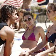 "Brenno Leone, Alice Wegmann e Bianca Bin gravam ""Boogie Oogie"" em praia carioca"