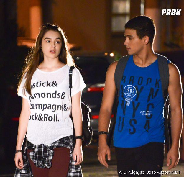 """Saiba como será o primeiro beijo de Guilherme (Lawrran Couto) e Raquel (Isabella Moreira) em""""As Aventuras de Poliana"""""""