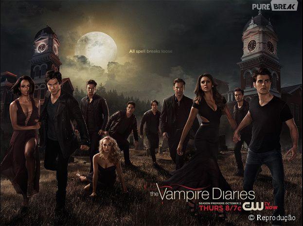 """Na sexta temporada de """"The Vampire Diaries"""": novo pôster promocional traz Elena e Stefan de mãos dadas"""