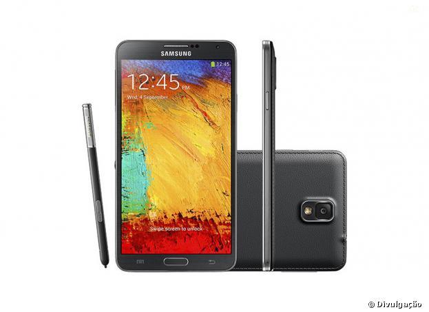 Lançamento mais recente da empresa: SamsungGalaxy Note 3