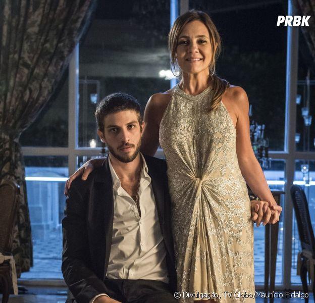 """Em """"Segundo Sol"""": Ícaro (Chay Suede) e Laureta (Adriana Esteves) passam a noite juntos, mais uma vez!"""