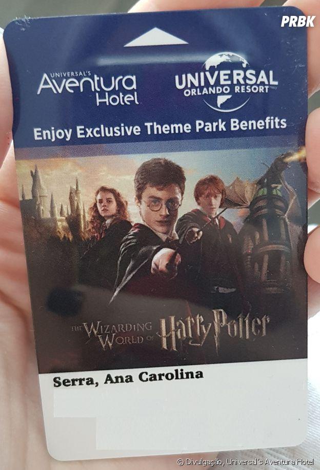 Universal's Aventura Hotel dá um cartão de acesso ao quarto personalizado com o nome do hóspede!