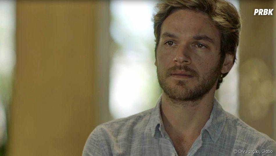 """Em """"Segundo Sol"""", Beto (Emilio Dantas) fica sem ação ao descobrir que Valentim (Danilo Mesquita) é seu filho com Luzia (Giovanna Antonelli)"""