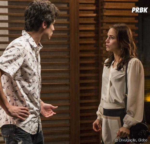 """Em """"Segundo Sol"""", Valentim (Danilo Mesquita) descobre que não é pai do filho de Rosa (Leticia Colin)"""