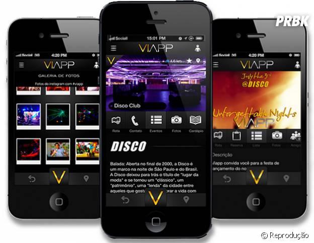 """O """"Viapp"""" é um guia pras baladas de São Paulo e deixa você se inscrever na lista de desconto"""
