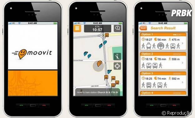 """Se vovcê não sabe qual ônibus pegar na capital paulista, o """"Moovit"""" te mostra as rotas e linhas disponíveis"""