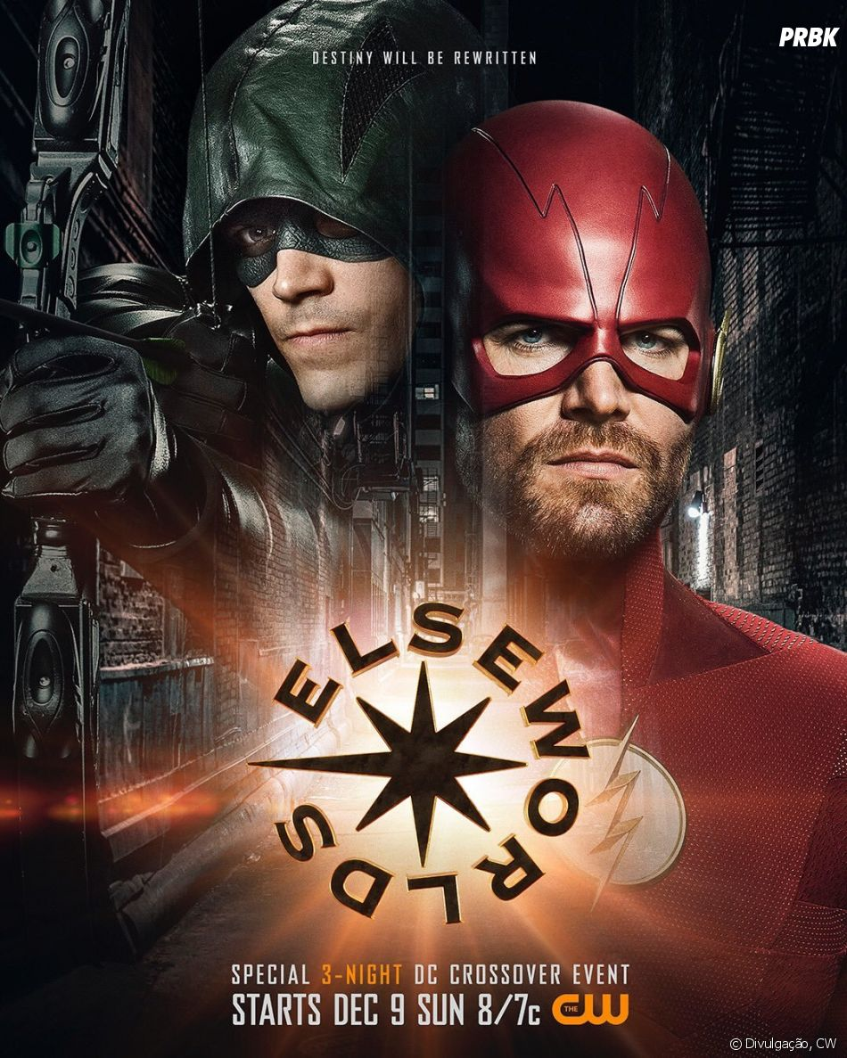 "Primeiro teaser do crossover de ""The Flash"" e ""Arrow"" mostra Oliver Queen (Stephen Amell) e Iris (Candice Patton) se beijando"