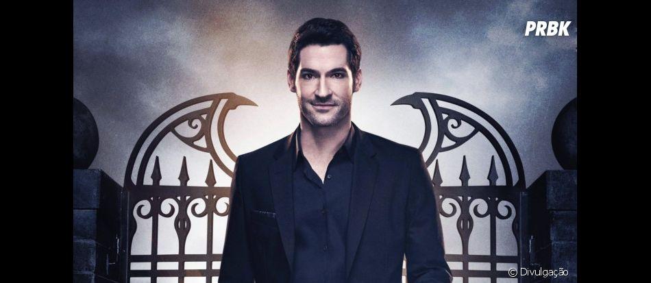 """Nova imagem da 4ª temporada de """"Lucifer"""" mostram Eva (Inbar Lavi) seduzindo Lucifer (Tom Ellis)"""