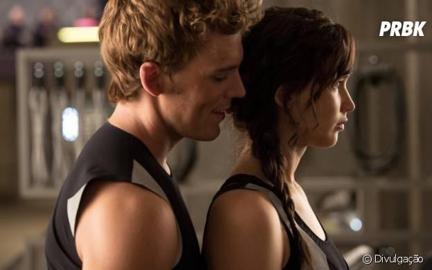 """Como Finnick Odair, Sam Claflin contracena com Jennifer Lawrence na franquia """"Jogos Vorazes"""""""