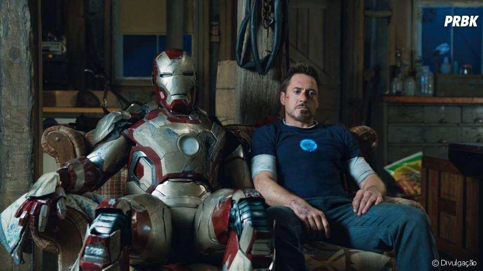 """Robert Downey Jr. em cena de """"Homem de Ferro 3"""""""