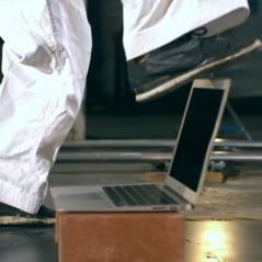 MacBook Air leva chute de faixa preta de Karatê em teste de resistência