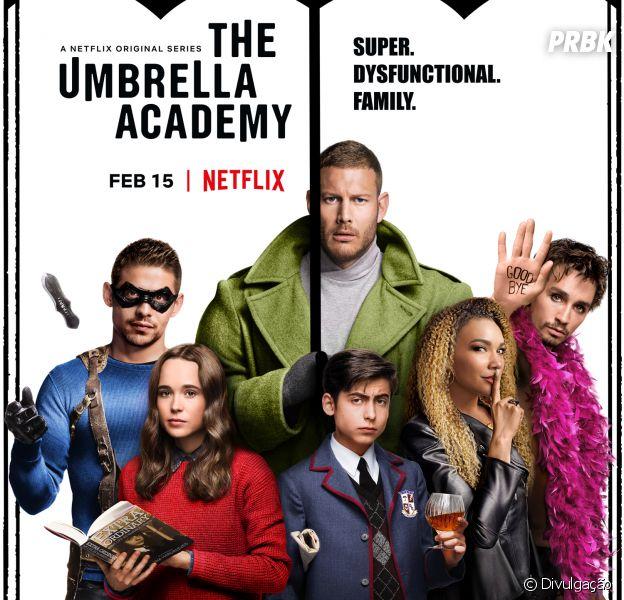 """A série """"The Umbrella Academy"""" é uma das novidades da Netflix para o mês de fevereiro"""