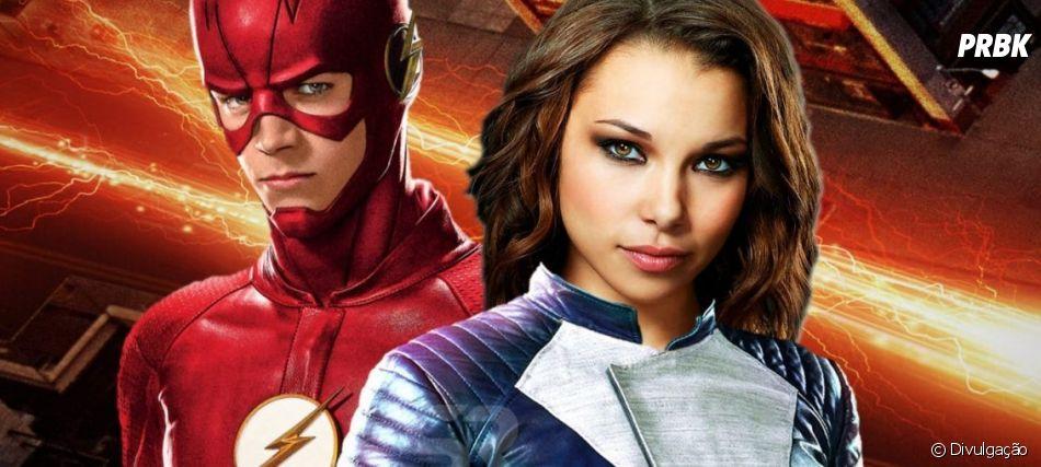 """Em """"The Flash"""", enquanto Barry (Grant Gustin) resolve questão com metahumanos, Nora (Jessica Parker Kenedy) salva Iris (Candice Patton)"""