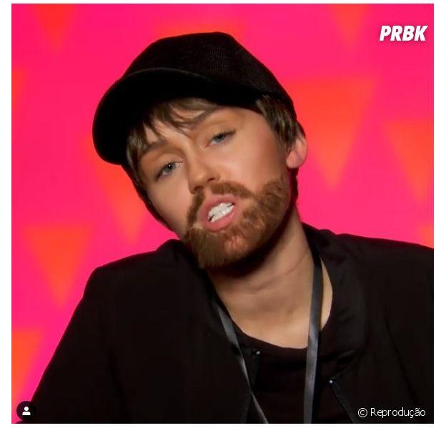 """De """"RuPaul's Drag Race"""", na 11ª temporada: Miley Cyrus se vestiu de homem para enganar as novas participantes"""
