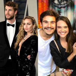 Miley Cyrus e Liam Hemsworth e Ju Paiva e Nicolas Prattes querem te adotar. Qual casal você escolhe?