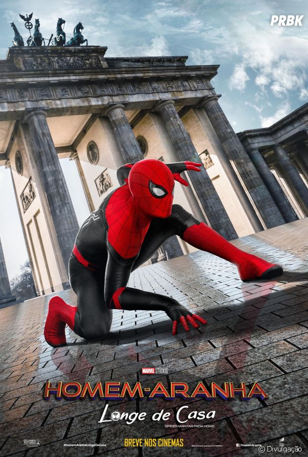"""Em """"Homem-Aranha: Longe de Casa"""": herói percorre o mundo em novos pôsteres"""