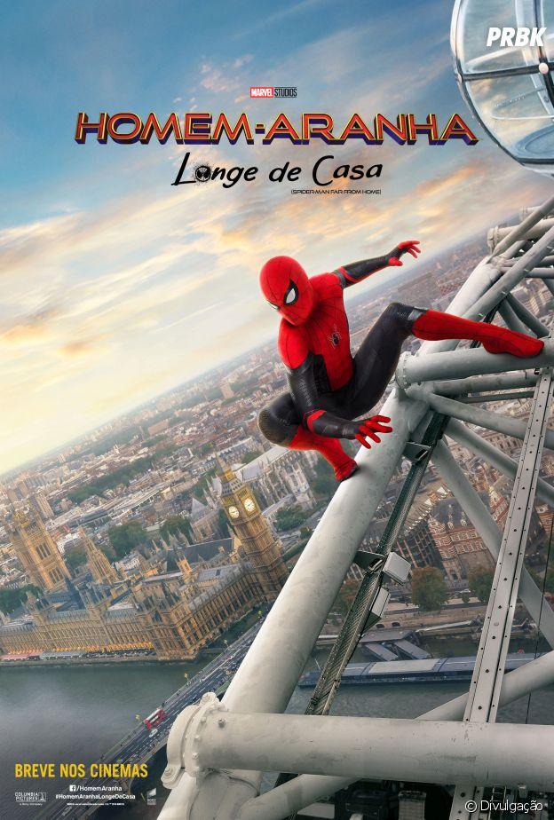 """Em """"Homem-Aranha: Longe de Casa"""": herói percorre porBerlim, Londres e Veneza em novos pôsteres"""