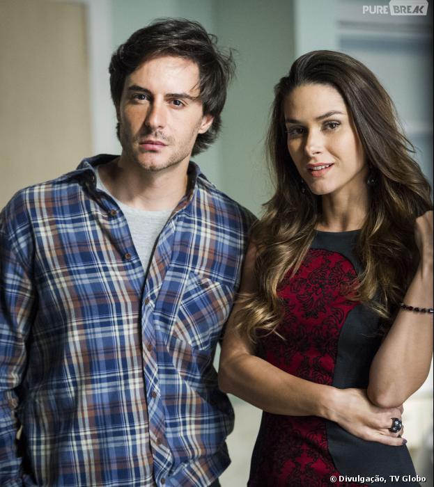 """Thales (Ricardo Tozzi) e Leila (Fernanda Machado) terão uma intrusa na mansão em """"Amor à Vida""""!"""