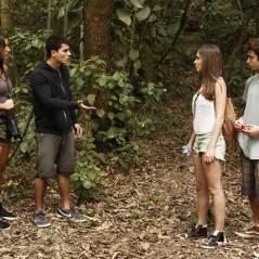 """Novela """"Malhação"""": Bianca flagra Duca com Nat no meio da floresta"""