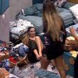 """Do """"BBB19"""", Paula ficou muito triste com a expulsão de Hariany após a briga entre as duas e prometeu dividir o prêmio com a amiga"""