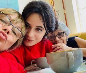 Camila Cabello também tem aproveitando o tempo para ficar com a família