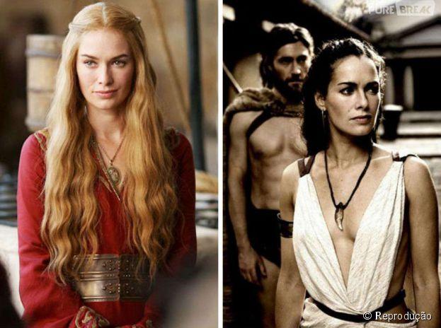 Lena Headey já foi esposa do Rei Leônidas, em 300, antes de ser Cersei Lannister