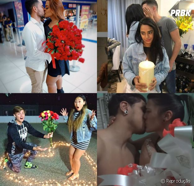 Com Camila Loures, MC Loma e mais: confira os 7 pedidos de namoro mais bombados do YouTube