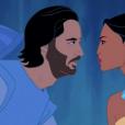 """Artista recria  John Smith, de """"Pocahontas"""", com o rosto de Keanu Reeves"""