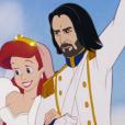 """Artista recria príncipe Eric, de """"Pequena Sereia"""", com o rosto de Keanu Reeves"""
