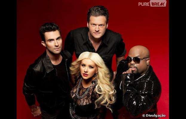 "Christina Aguilera, CeeLo Green, Adam Levine e Blake Shelton esquentam a disputa na 5ª temporada do ""The Voice USA"""