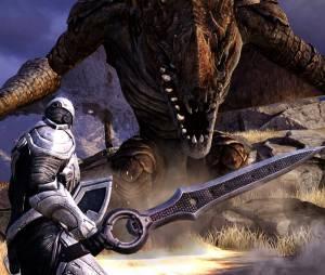 """Em """"Infinity Blade"""" você terá que lutar contra guerreiros gigantes para completar as missões"""