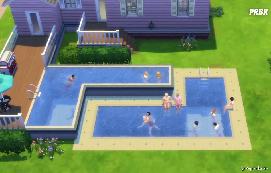 Novas ferramentas para construir piscinas no the sims 4 for Piscina sims 4