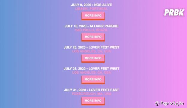 Taylor Swift no Brasil: show em São Paulo será no dia 18 de julho de 2020