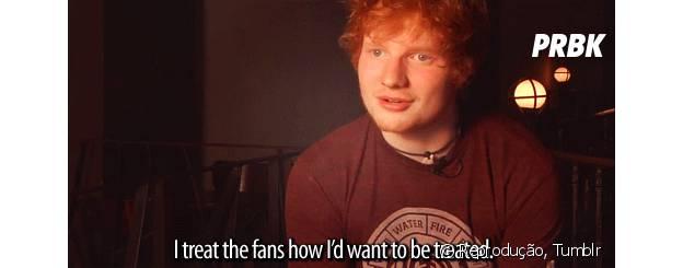 Ed Sheeran fala sobre seus fãs