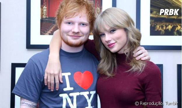 Ed Sheeran é super amigo de Taylor Swift