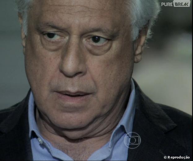 """César (Antônio Fagundes) descobrirá que Bruno (Malvino Salvador) achou Paulinha (Klara Castanho) na lixeira em """"Amor à Vida"""""""
