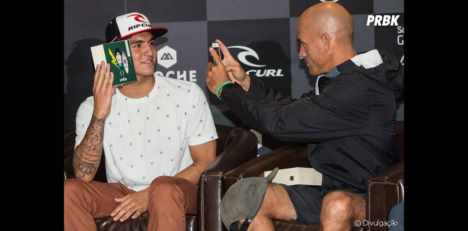 """O jovem surfista Gabriel Medina aparece à frente de Kelly Slater no ranking do WCT e comenta: """"Não tem pressão em surfar contra ele"""""""