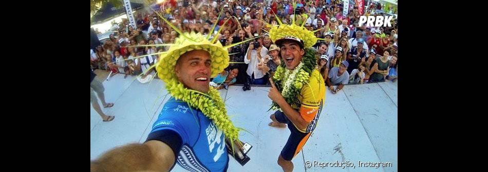 As feras do surf, Gabriel Medina e Kelly Slater, nutrem uma boa relação fora das ondas