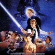 """""""Star Wars: Episódio VI - O Retorno de Jedi"""": mostra Luke Skywalker (Mark Hamill) se tornando um Mestre Jedi ao lado de Leia(Carrie Fisher), Han Solo (Harrison Ford) e mais personagens que vieram a se tornar icônicos"""