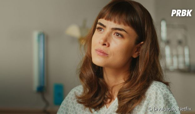 """Em """"Coisa Mais Linda"""", Malu (Maria Casadevall) foi parar no hospital depois de ser atingida por um tiro que Augusto (Gustavo Vaz) disparou"""