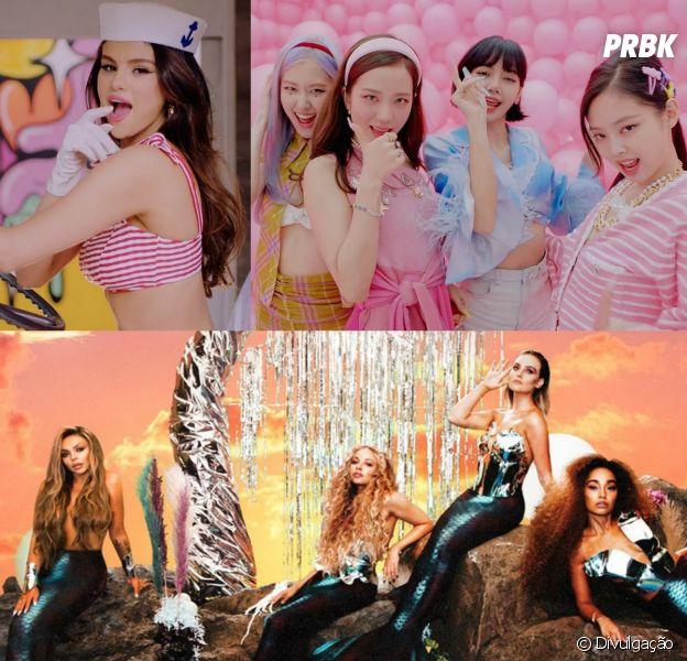 """Quiz: você faria parte do novo clipe do BLACKPINK e Selena Gomez, """"Ice Cream"""", ou do Little Mix, """"Holiday""""?"""