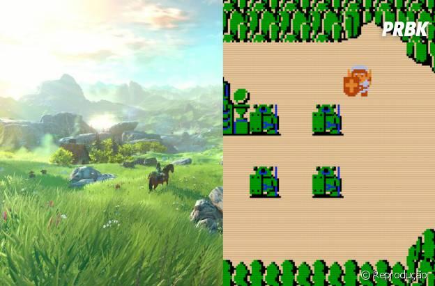"""Comparamos o novo game da Nintendo """"The Legends of Zelda"""" com a primeira versão de 1986"""