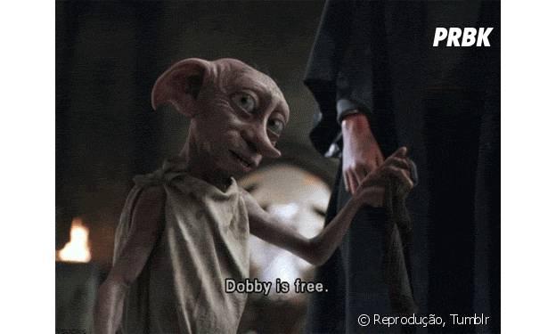 """Em """"Harry Potter"""", o elfo Dobby daria tudo por sua liberdade"""