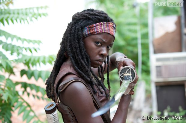 "Michonne (Danai Gurira) vai ter mais destaque na segunda parte da 5ª temporada de ""The Walking Dead"""