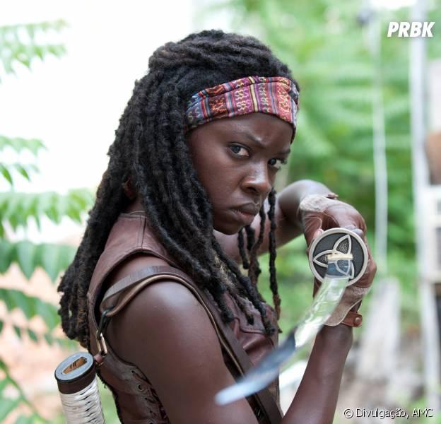 """Michonne (Danai Gurira) vai ter mais destaque na segunda parte da 5ª temporada de """"The Walking Dead"""""""