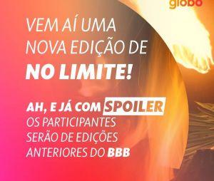 """Globo anuncia que nova edição de """"No Limite"""" será com ex-BBBs"""